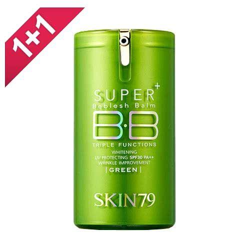 Skin79의 스킨79 슈퍼 플러스 비블레쉬 밤 트리플펑션  SPF30 +. 이 BB크림 사용해보신 적 있으신가요?   이 화장품에는 55개의 성분이 포함되어있고,인체에 위험한 성분이 1개, 자주 쓰면 해로운 성분이 8개 있어요.   위험한 성분은 Fragrance이고,자주 쓰면 해로운 성분은 Cyclopentasiloxane, Propylene Glycol, Talc, Dimethicone, Tocopheryl Acetate, Potassium Sorbate, BHT, Phenoxyethanol이예요.  더 �