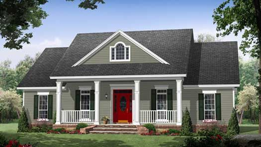 Country Style House Plans - 1870 Square Foot Home , 1 Story, 3 Bedroom and 2 Bath, 0 Garage Stalls by Monster House Plans - Plan 2-320