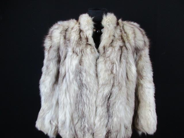 HAMMERMAN WOMENS AUTHENTIC REAL FUR COAT SIZE 12/14 UK CREAM GOOD CONDITION H013