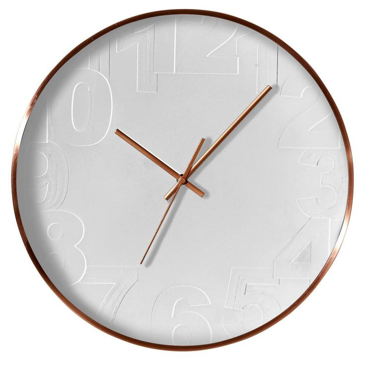 Balaclava Metal Frame Wall Clock - White