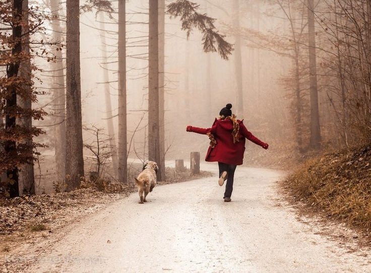 { hikes with my dog, Molly }