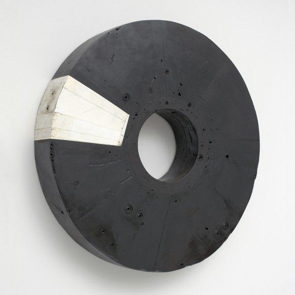 Ceramic black circle by Hiroyuki Hamada Sculptures