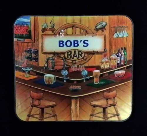 Perfect for Bob, Robert and their drinks! Visit us and get this set of Bob's Bar coasters.