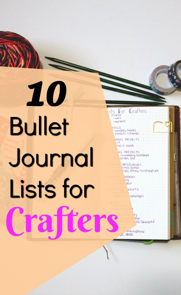 Knitting Journal Ideas : Bullet journal lists for crafters journals