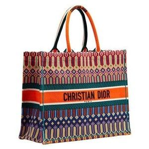 090f7c1b8 DIOR BOOK TOTE BAG IN MULTI-COLOURED EMBROIDERED CANVAS | Bags ...