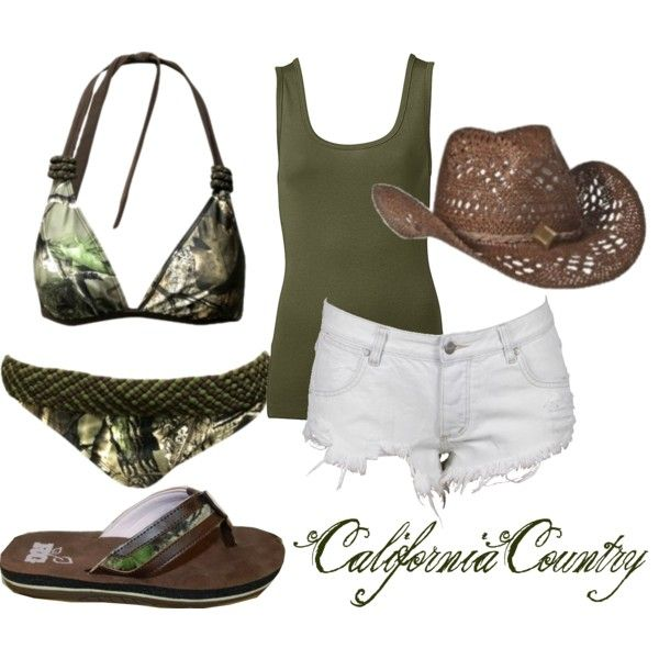 wish i had one!!!Summer Outfit, Clothing, Camo Bikini, Summer Style, Country Girls, Swimming Suits, Bath Suits, Cowgirls Hats, Summer Time