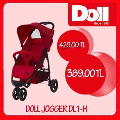 Doll Jogger DL1-H, alüminyum hafif gövde, 360˚ dönebilen istenildiğinde kilitlenebilen ön tekerlekler, 5 nokta ayarlı emniyet kemeri ve daha bir çok özelliğiyle Kanz ve SD mağazalarında!