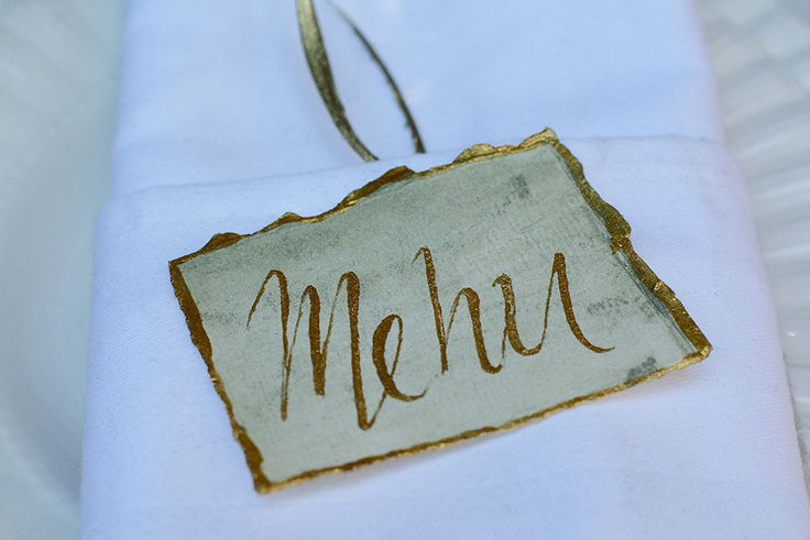 "Premium ""art de la table"" with handwritten table details by Chirography"