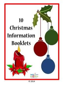 Christmas Information Booklets $ Fun and informative activities for the students to complete and keep or display. the origins of various Christmas icons have been explained.  Christmas Tree and decorations Nativity Coloring and Drawing Book Christmas Coloring Book St Nicholas Snowmen Santa Claus Christmas Bells The Christmas Carol Christmas Trees Christmas Eve