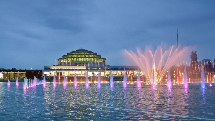 Wrocław -fontanna multimedialna