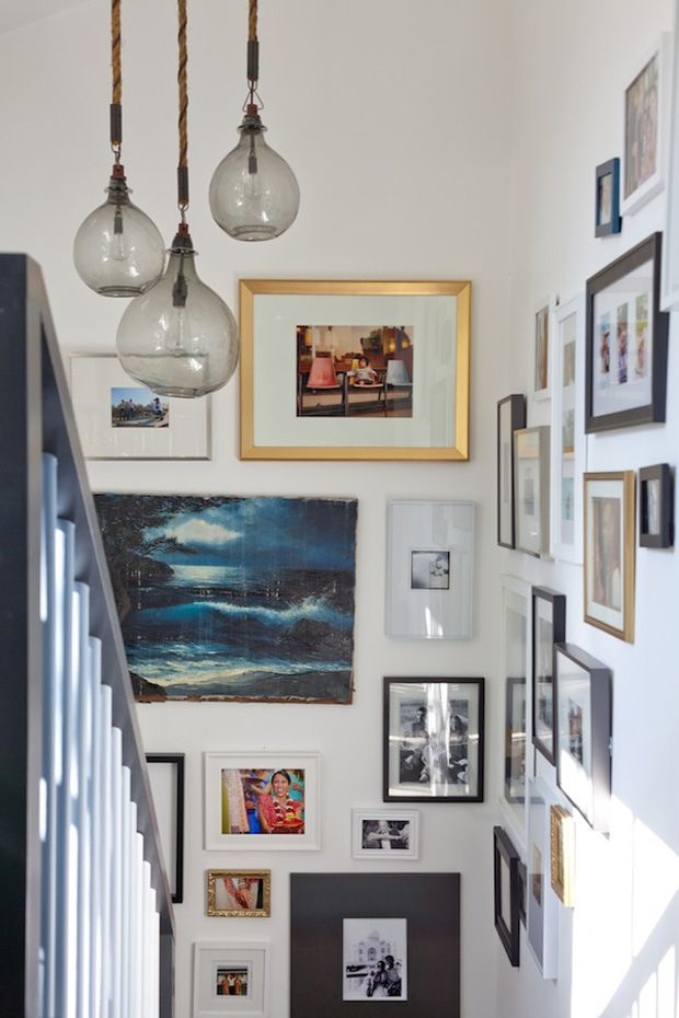 A Stairwell flooded with picture frames - decorate the hallway and landing with paintings and pictures on the walls going up the stairs...SUBLIME!