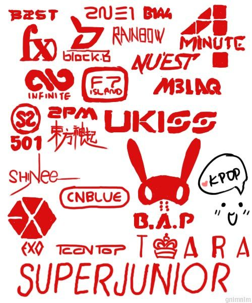 #kpop ❤️ But I was sad tht I couldn't find Big Bang in there... ;(