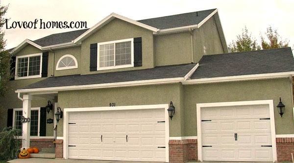 house big doors exterior colors exterior paint garage ideas door. Black Bedroom Furniture Sets. Home Design Ideas