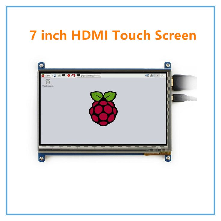 Raspberry pi 3 7 inch touch screen 1024*600 7 inch Capacitive Touch Screen LCD, HDMI interface, supports various system