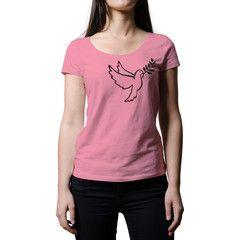 Peace T-Shirt - Peace is in the air. The soaring peace dove celebrates freedom in all its forms. This is a premium women's tee made of 100% cotton. This tee will take your style to new heights.