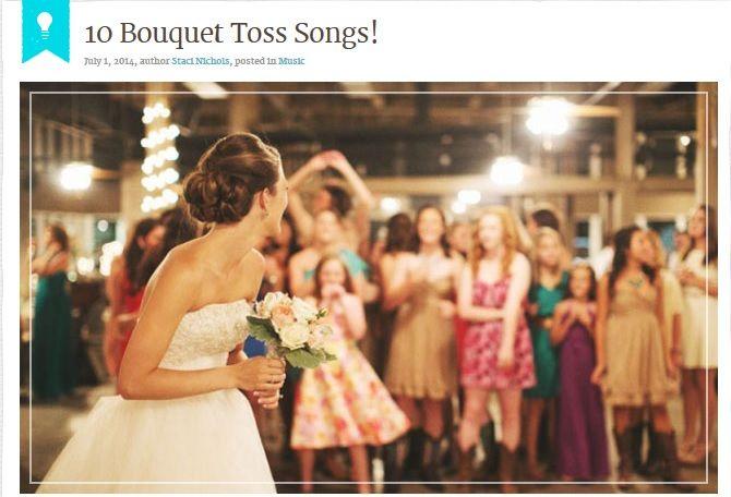 Top 10 Wedding Bouquet Toss Songs : Ideas about bouquet toss songs on