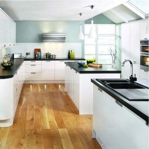 Kitchen Tiles Black Worktop 10 best kitchen images on pinterest | cream kitchens, blue tiles
