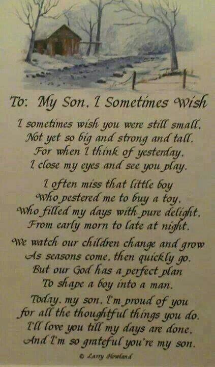 Voor mijn zoon
