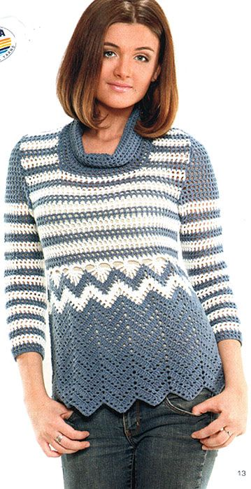 Ripple sweater with diagram - wow I love this.