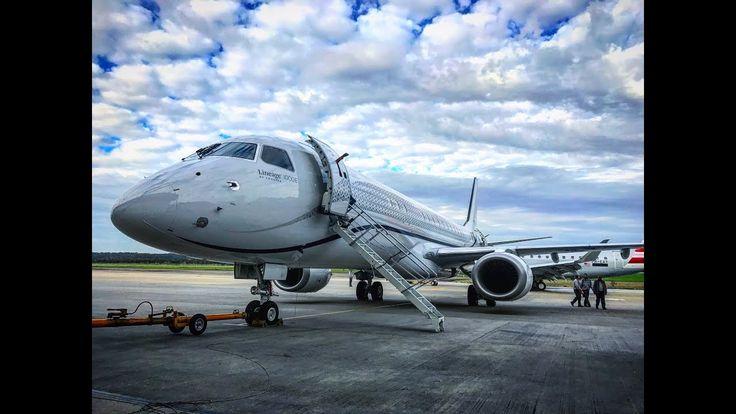 A bordo do Embraer Lineage 1000, o maior jato executivo do mundo