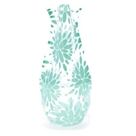 Modgy 66135x2 Myvaz Expandable Flower Vase Lila Teal-Pack of 2