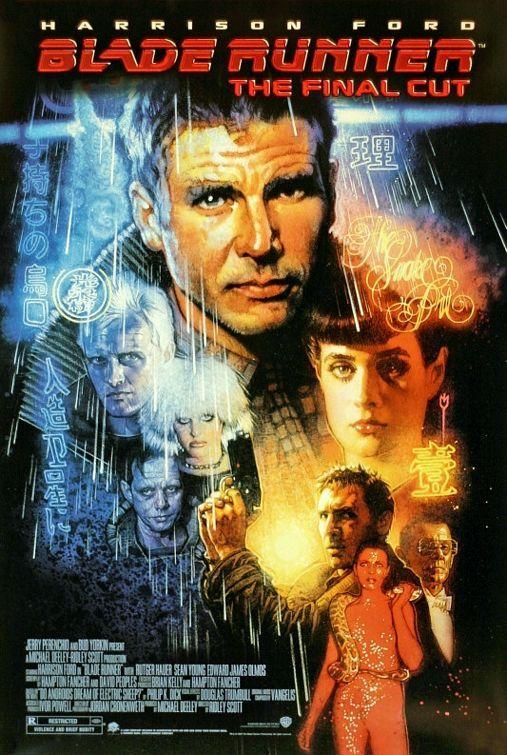 Blade Runner (1982). Dir: Ridley Scott. A principios del s. XXI, Tyrell Corporation crea el robot Nexus 6, idéntico al hombre pero superior en fuerza y agilidad, y al que se llamó Replicante. Tras una rebelión de estos robots que trabajaban como esclavos, se les destierra fuera de la Tierra. Los Blade Runners son brigadas especiales de la policía con la misión de matar a todo Replicante que no acatara el destierro. En #BibUpo http://athenea.upo.es/record=b1263909