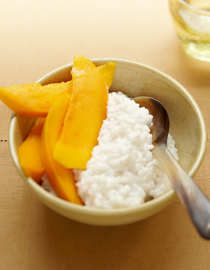 Le mango sticky rice de Patricia Loison pour 4 personnes - Recettes Elle à Table