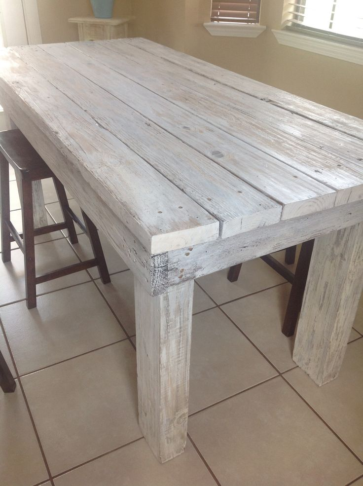 distressed kitchen table made by yours truly love it