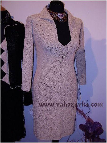 Платье крючком из квадратных мотивов. Платье геометрическим узором со схемами | Я Хозяйка