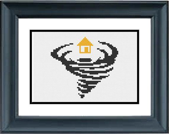 House in a Twister  Wizard of Oz  Wicked  PDF by PopularStitch
