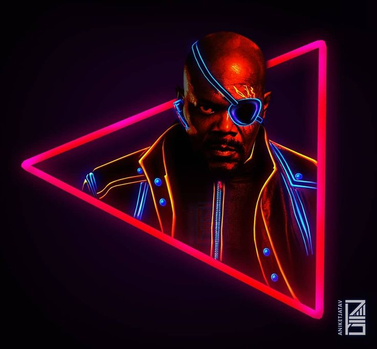 "2,659 Likes, 59 Comments - Aniket Jatav (@aniketjatav) on Instagram: ""64/365 : NEON MARVELS Artwork : 28 - @samuelljackson as NICK FURY  The man behind the IDEA.…"""