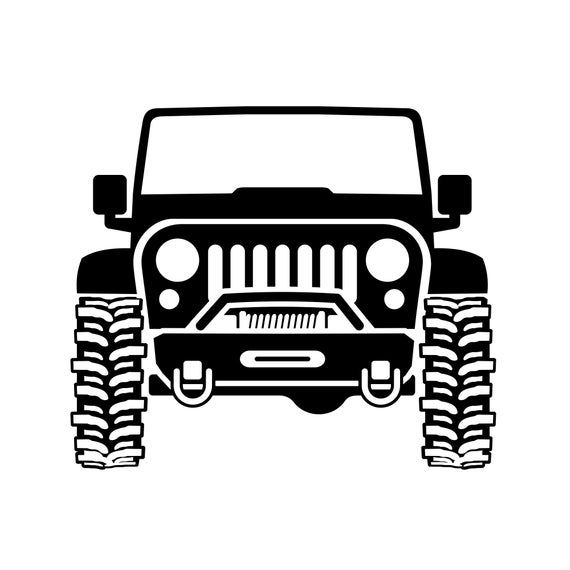 """3 pieces Black 5/"""" Funny Off-road Jeep Car Window Vinyl Stickers Exact Fit Decal"""