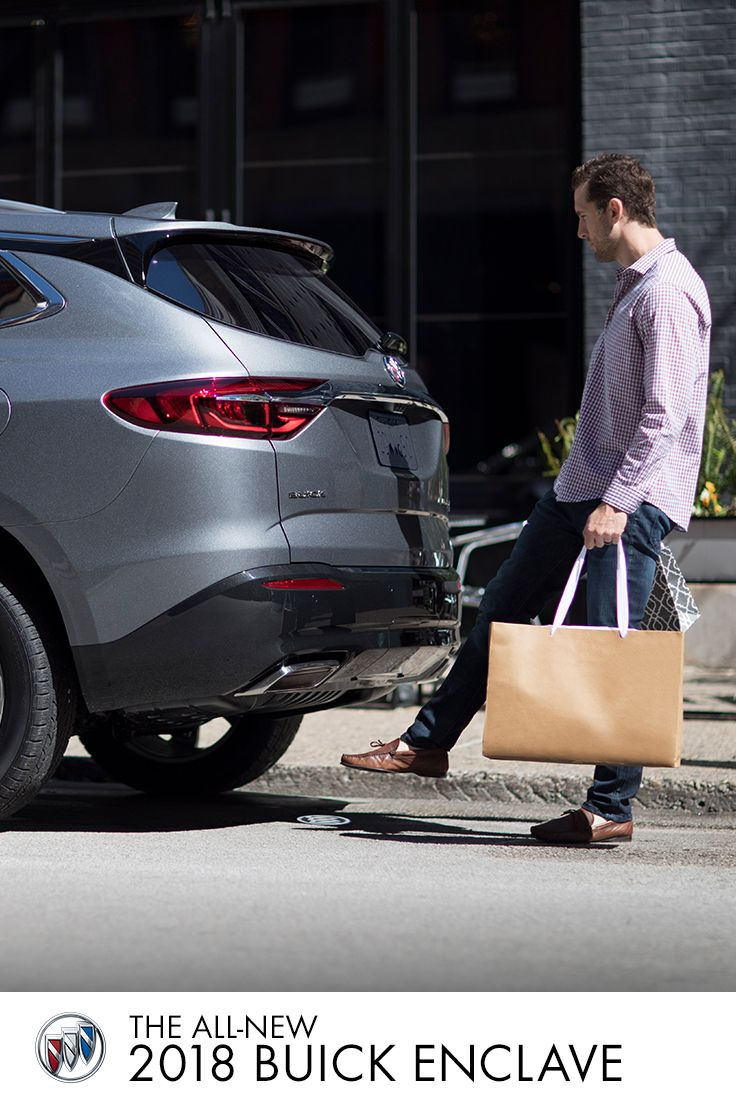 Need to fit it all in style? The All-New Buick Enclave with hands-free power liftgate and flexible cargo space is here to help.