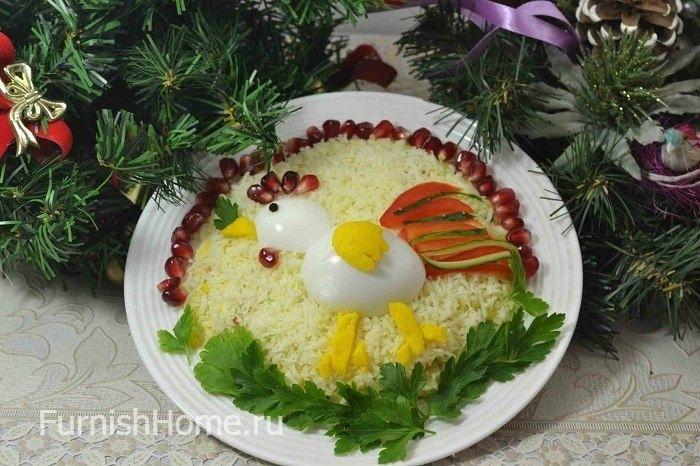 Новогодний салат «Петушок»