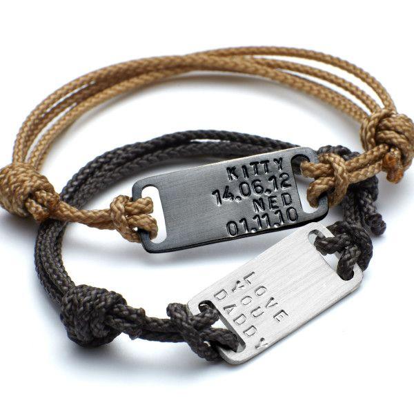Men's personalised ID plate bracelet