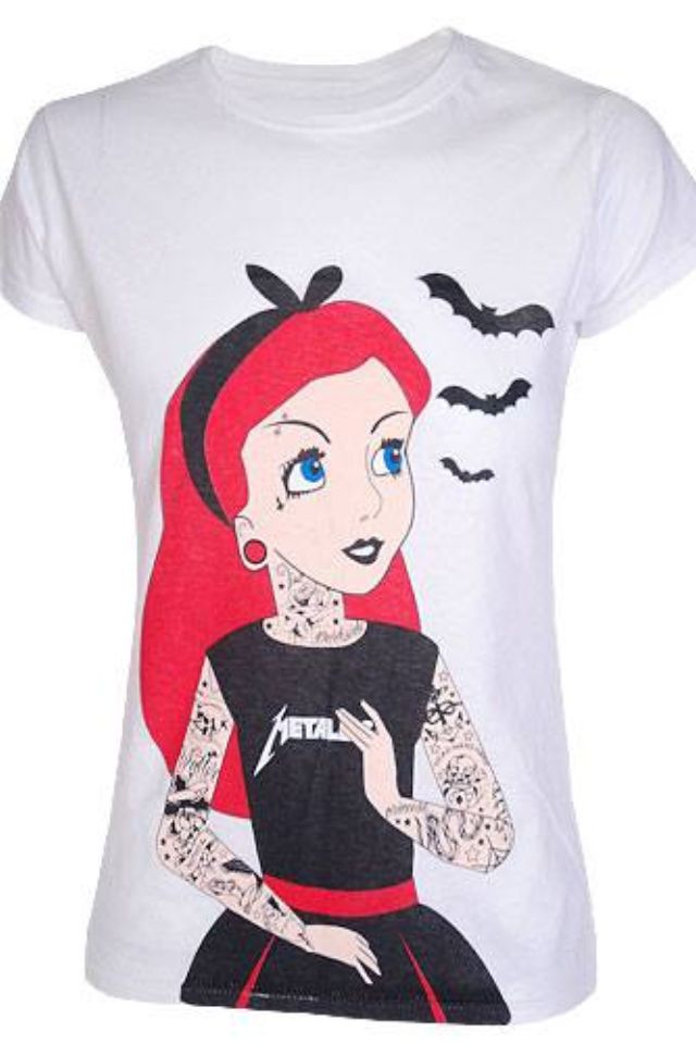 39 best images about rock n roll disney on pinterest for Tattooed ariel shirt