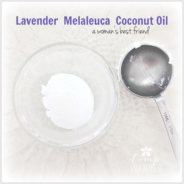 yeast-infection treatment: 1 Tablespoon Coconut Oil (melted) 2 drops lavender, 2 drops tea tree oil. Let harden in fridge.  Shape and use like tampon.