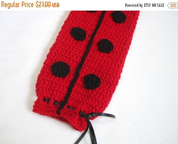 Crochet Plastic Bag Holder Ladybug Red and by crochetedbycharlene