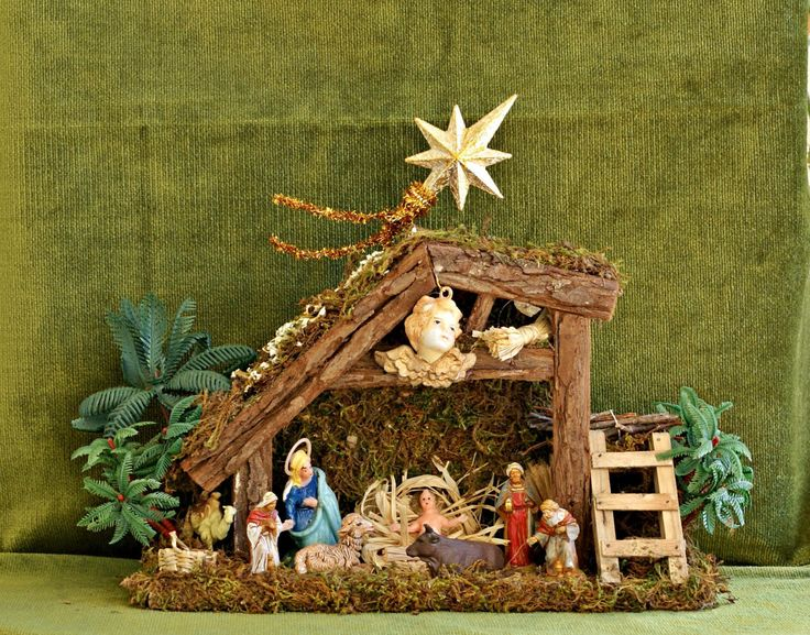 Christmas Nativity, Christmas Figurines, Christmas Decoration, Christmas Vintage Decor, Christmas Ornament, Christmas Tree Decor, Retro Xmas by VintageShopCreations on Etsy