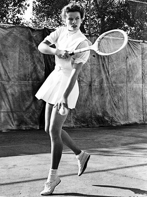 Katharine Hepburn playing tennis in the  days of old Hollywood when they weren't all the self-absorbed, over-paid exhibitionists of today.