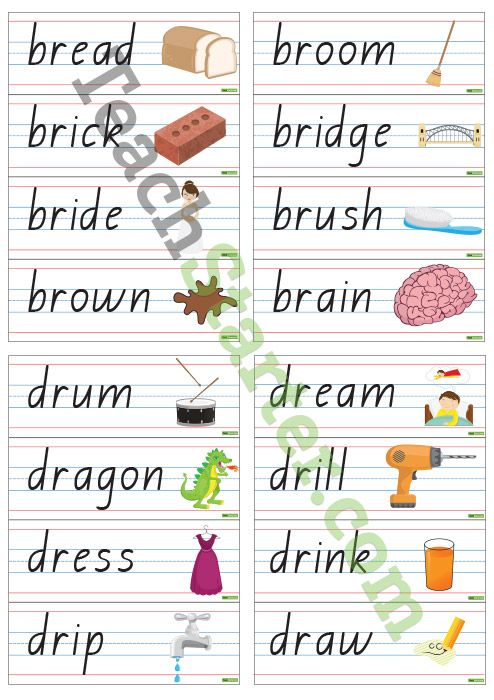 R Blend Word Wall Vocabulary | Teaching Resources - Teach ...