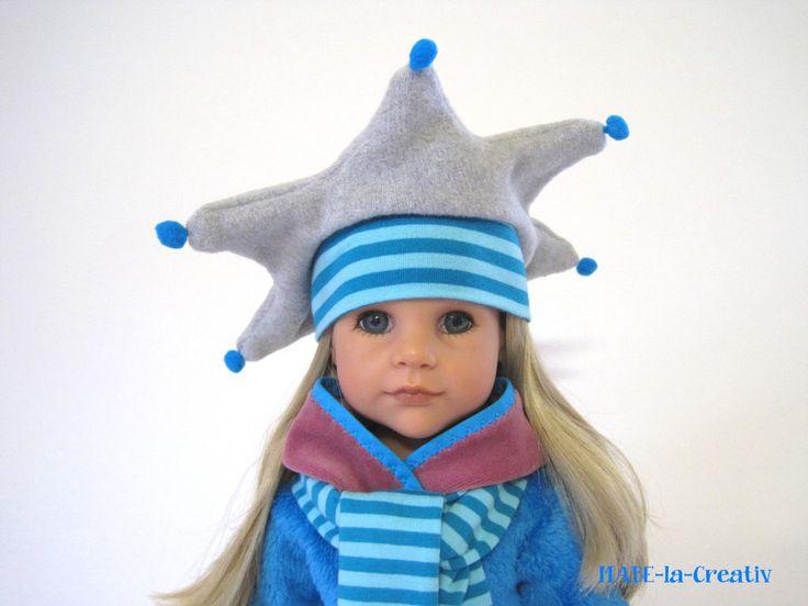 Zipfelmütze+Schal+Handschuhe - Set ✿ grau-türkis von © MABE la Creativ - KIDS auf DaWanda.com