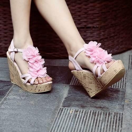 : High Heels Sandals, Platform Wedges, Pink Platform, Corks Wedges, Wedges Shoes, White Wedges, Wedge High Heels, Fantasy Closet, Wedges High Heels