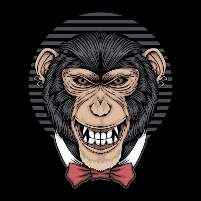 Chimpanzee Tie Bow Vector Illustration Animal Ape Art Png And Vector With Transparent Background For Free Download Tulpen