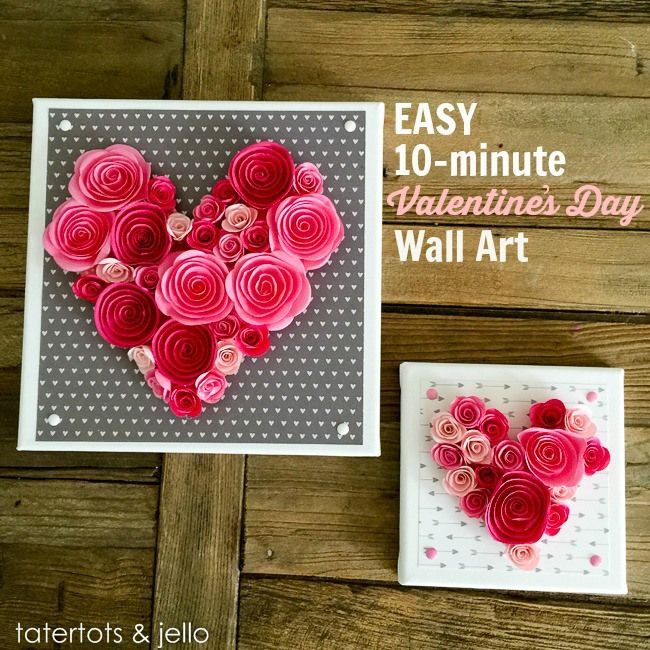 easy 10 minute valentines day wall - What To Give Your Girlfriend For Valentines Day