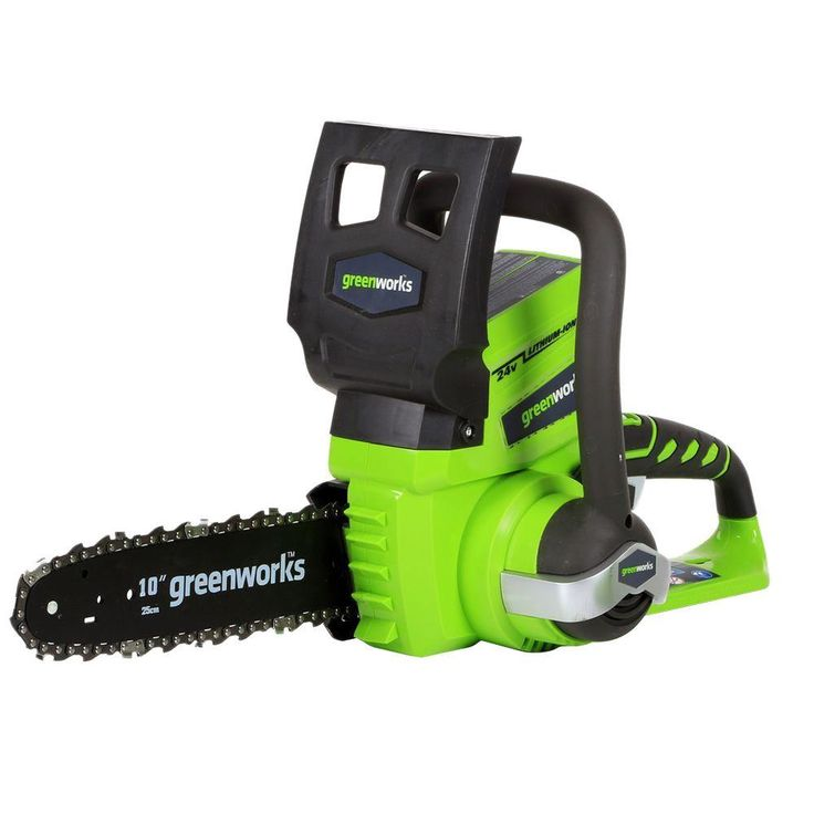 Greenworks G-24 10 in. 24-Volt Cordless Chainsaw - Battery and Charger Not Included