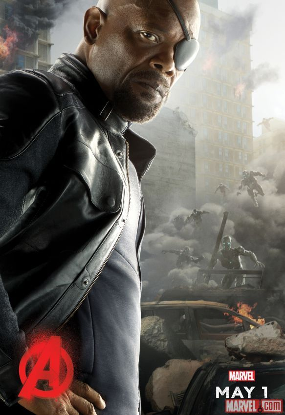 Samuel L. Jackson stars as Nick Fury in Marvel's Avengers: Age of Ultron, in theaters May 1