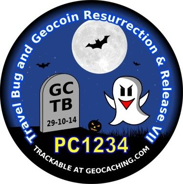 If you've ever released a #geocaching geocoin or Travel Bug to travel and had it go missing, you can get it going again!  Order a free proxy tag that will be released in Canada at the seventh Travel Bug and Geocoin Resurrection & Release event (GC5C887).  Choose your proxy design and submit the info at http://islandbuttons.com/TBGCRnR7.html