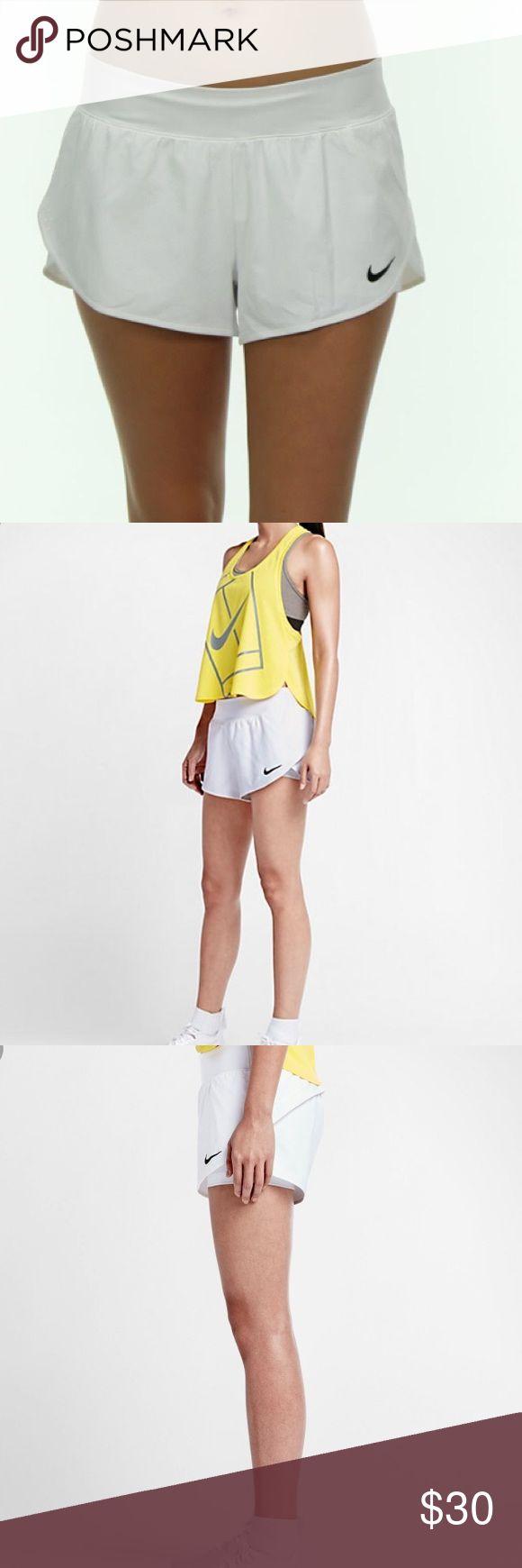 Nike Ace Tennis Shorts Nike court Ace Tennis Shorts in size L.  EUC.  White with black swoosh. Nike Shorts