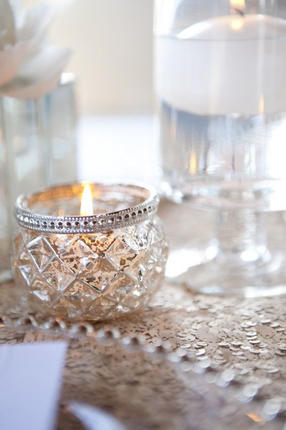Jeweled Candle Holders #Modern #romantic #wedding #table Setting #sequence  #great